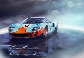 Ford, GT40, форд, гонка, суперкар, классика