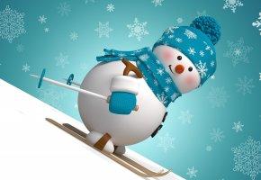 рождество, новый год, snow, snowman, winter, снеговик