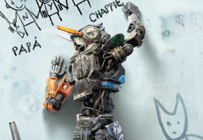 Чаппи, Chappie, робот, фильм, стена, надписи