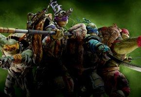 Черепашки-ниндзя, Teenage Mutant Ninja Turtles, Raphael, Michelangelo, Leonardo, Donatello, маски, оружие, фантастика