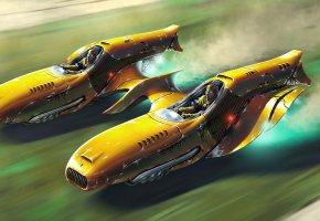 auto, car, concept, art, скорость, полет