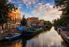 река, амстердам, вода, канал, Amsterdam, нидерланды, nederland