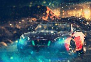 Aston Martin, V12, Vantage S Roadster, астон мартин