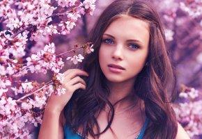 портрет, взгляд, весна, девушка, глаза, губки, личико