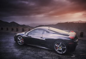 Ferrari, 458, Italia, profile, феррари, италия, профиль