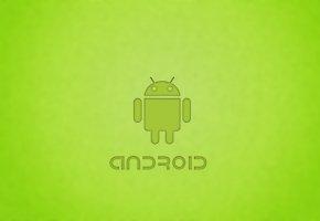 android, андройд, робот, ос, зеленый фон