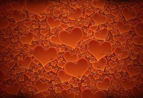 Обои сердечки, день валентина, текстуры, красный