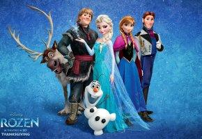 Обои Frozen, Walt Disney, Холодное Сердце, 2013, снеговик