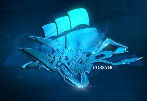 corsair, graffiti, style, Корсар, стиль