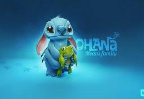 лягушка, Stitch, стич, frog, ohana