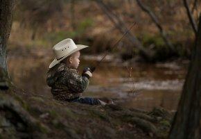 мальчик, удочка, юный рыбак