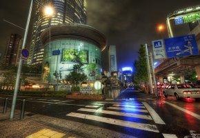 Обои япония, japan, улица, огни, дома