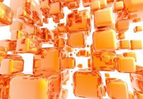 кубики, квадраты, отражение, блики, графика