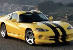 Dodge, Viper, GTS, Додж, желтый