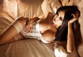 nita kuzmina, девушка, кукла, позирует, белье, белое, грудь