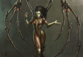 Обои sarah kerrigan, queen of blades, starcraft, zerg, Сара Керриган, старт крафт, зерг, королева