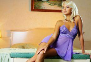 модель, девушка, белье, блондинка, красавица