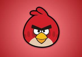Обои angry birds, энгри бердс, птицы, видеоигры, злые птицы, red