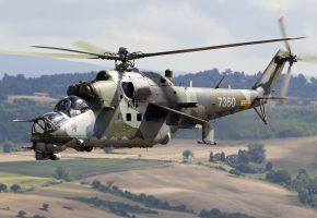 ми 24, вертолет, пропеллер, винт, двигатели, оружие, кабина