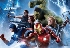 Обои Avengers: Age of Ultron, Avengers 2, Movie, Film, 2015, Year, Robert Downey Jr., Iron Man, Tony, Stark, Chris Evans, Captain America