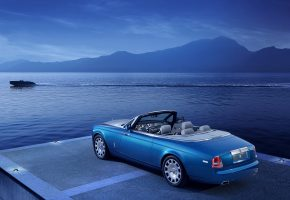 Rolls-Royce Phantom, синий, Drophead, Coupe, Waterspeed Collection, car