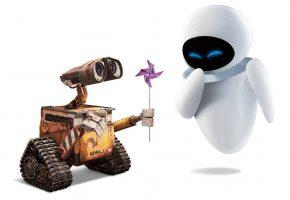 Обои валли, фантастика, ева, любовь, wall-e, мультфильм, робот