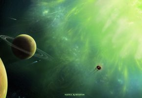 supernova, green, planet, планеты, созвездия, кольца