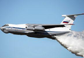 Ильюшин, Ил-76, МД, ВВС, России, Транспортный, Полёт, Сброс, Вода