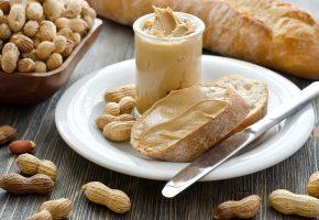 Обои арахис, паста, масло, хлеб