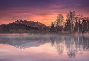 Germany, Бавария, Германия, деревья, озеро, горы