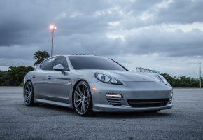 Обои Porsche, Panamera, CW-S5, Matte, Grey