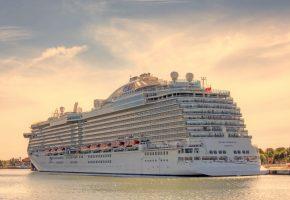 Обои корабль, круизный лайнер, Royal Princess, океан