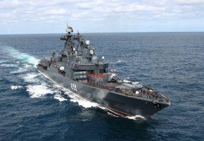Обои корабль, эсминец, российский, оружие