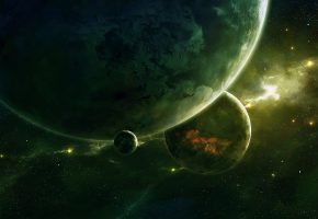 Обои space, планеты, арт, космос