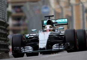 Обои F1, Formula 1, Mercedes, Hamilton, Monte Carlo
