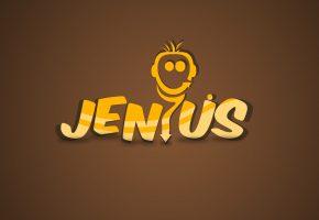Обои jenius, minimalism, brown, фон, минимализм, надпись