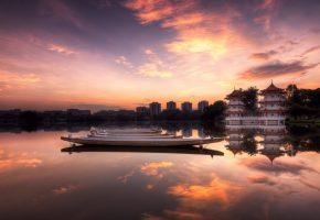 Chinese, Garden, sunrise