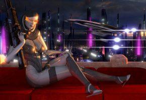 Обои edi, Eva, ai, mass effect, робот, взгляд