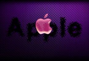 apple, mac, компьютер, ноутбук, телефон, гаджет, эмблема, логотип, яблоко, текст