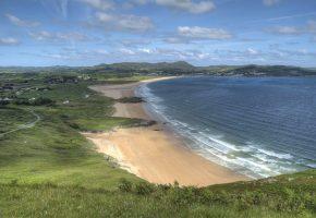 Обои залив, море, пляж, ирландия, волны