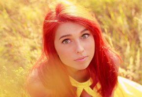 Обои лицо, faces, женщина, рыжая, women, redheads