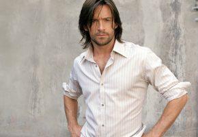 актёр, серьезность, Hugh jackman, рубашка, лицо, хью джекман, красавец