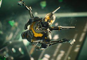 Ant-man, Человек-муравей, Марвел, комикс, шлем, костюм, супергерой, полет