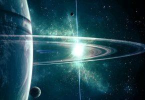 Планеты, пояс, звезды, солнце, свечение