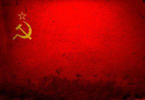 Обои Ссср, флаг, красный, серп, молот, звезда