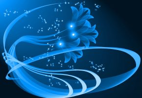 Обои абстракция, графика, векторная, цветок, узор