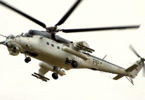 Ми-24, вертолёт, лопасти, полет, ракеты
