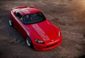 Хонда, красная, Honda, red, s2000, надписи