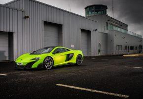 Обои Спорткар, авто, McLaren, 675LT, Green, 2015