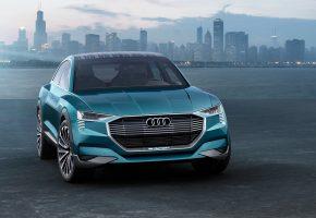 Обои Audi, Ауди, e-tron, quattro, concpt, концепт, джип